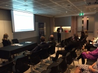 Mr Robertson presenting to ACFE Sydney Chapter members and guests